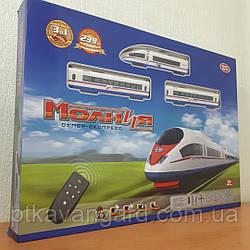 Железная дорога на радиоуправлении Молния Супер-экспресс, длина 239 см, свет, звук, Play Smart 9713-2 А