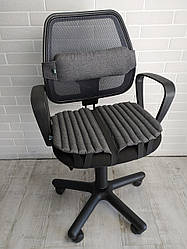 Подушки для сидіння на комп'ютерних і офісних кріслах EKKOSEAT. Ортопедичні. Сірі, чорні, коричневі ...