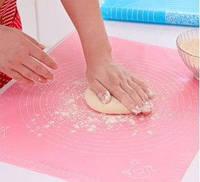Силіконовий килимок для розкачування тіста MAT ROSE 38*28 см коврик для теста