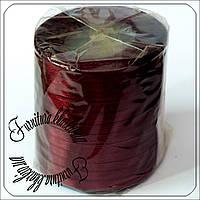 Лента атласная 7 мм бордового цвета