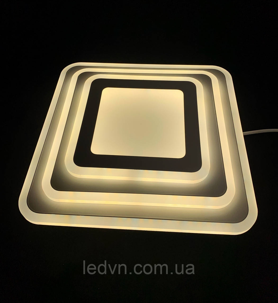 Светодиодный потолочный светильник квадрат 35 ватт 30см
