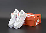 Кроссовки женские Nike Air Force 1 в стиле найк форсы белые (Реплика ААА+), фото 5
