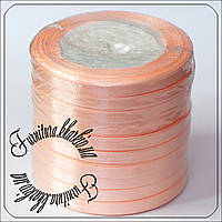 Лента атласная 7 мм персикового цвета