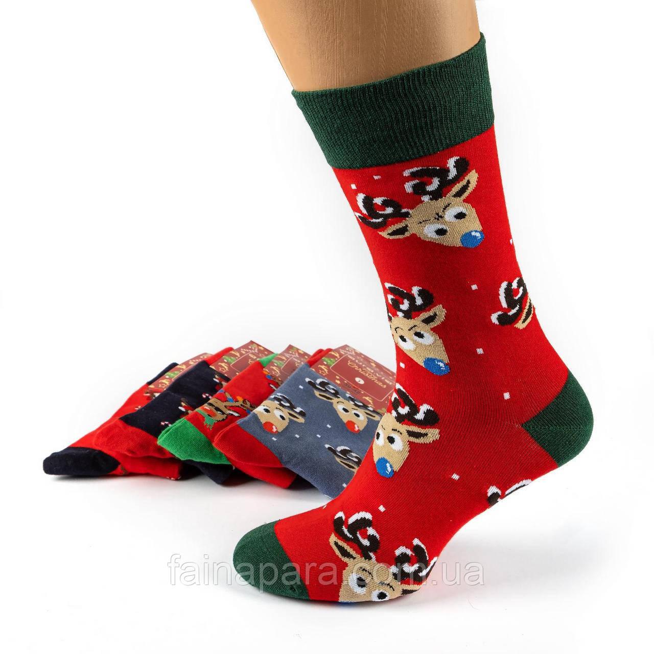 Новогодний набор мужских носков 5 пар