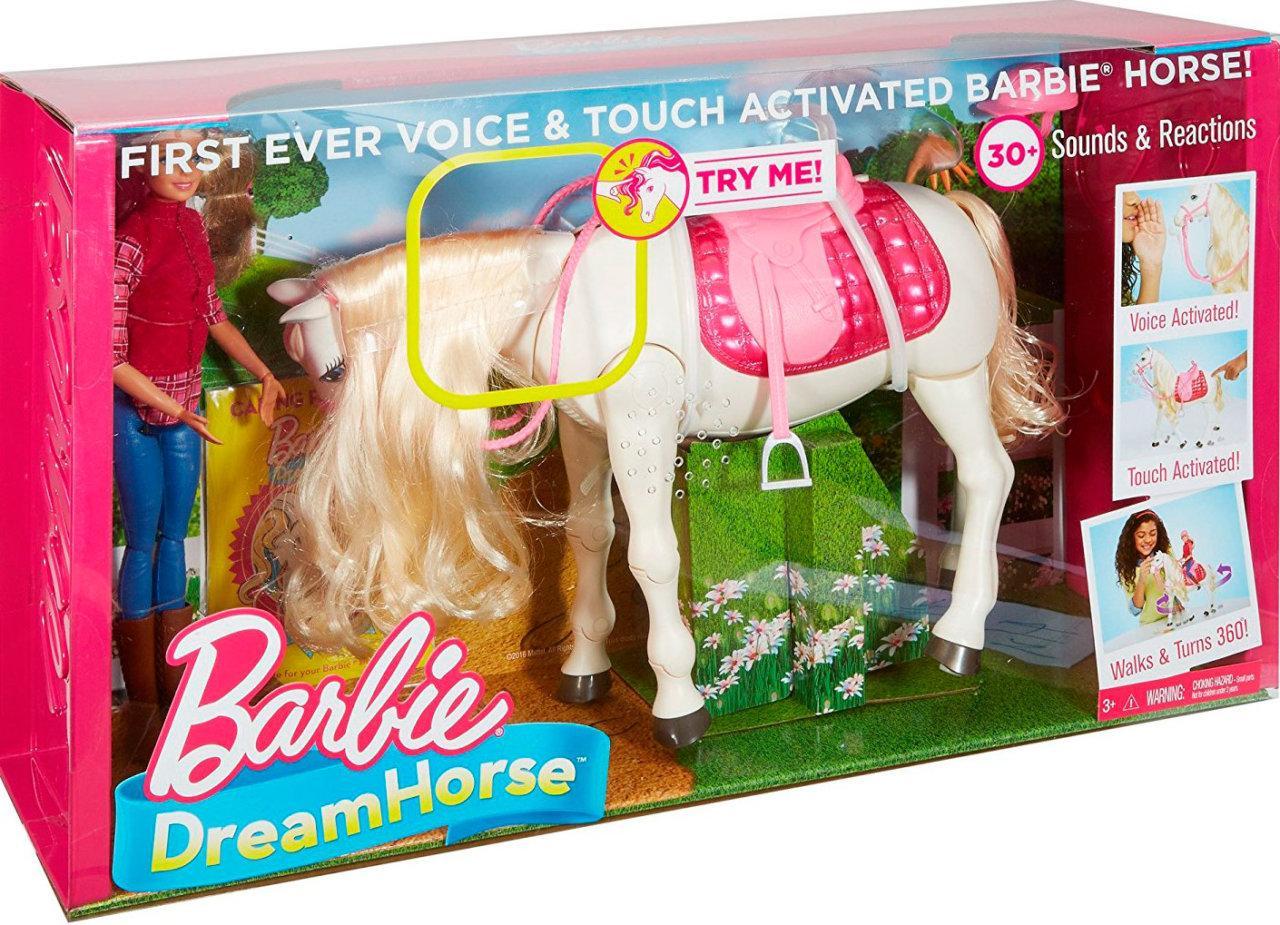 Barbie Кукла Всадница - Dream Horse (Барби- наездница и интерактивная танцующая лошадь FRV36)
