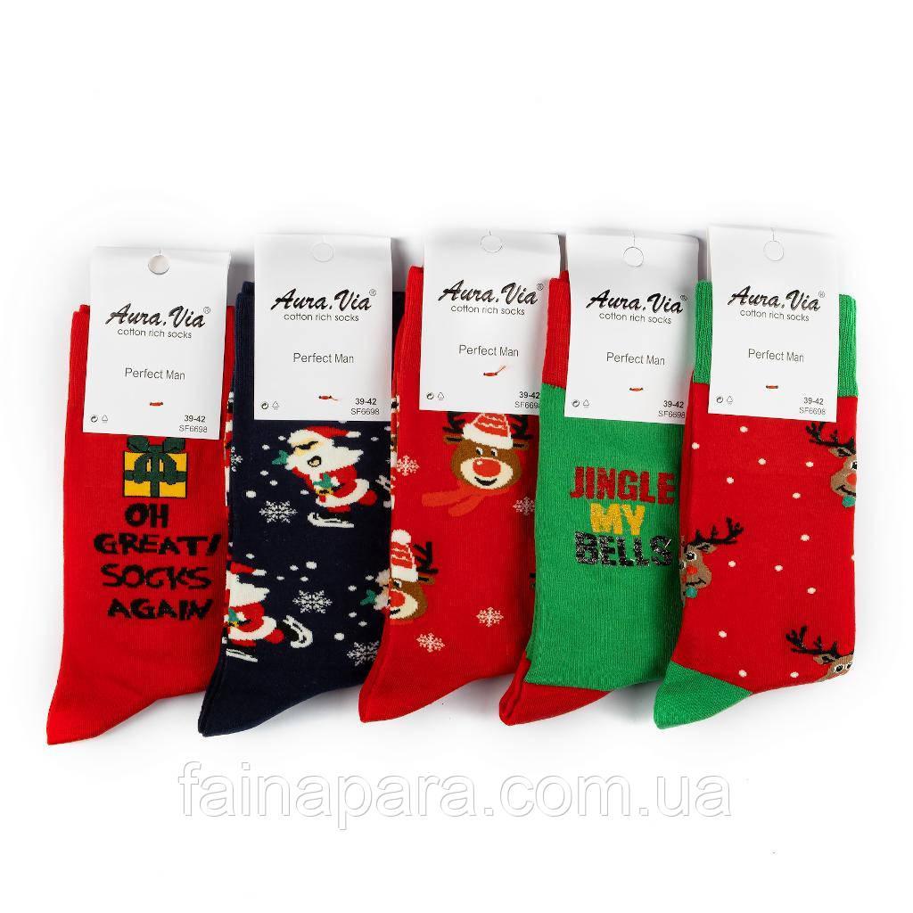 Набор новогодних мужских носков 5 пар Aura Via