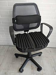 Ортопедичні подушки для сидіння і комп'ютерних офісних кріслах EKKOSEAT. Комплект. Чорні, Сірі ...