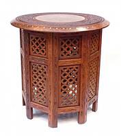 Столик шестигранный из красного дерева (47х45х45 см)