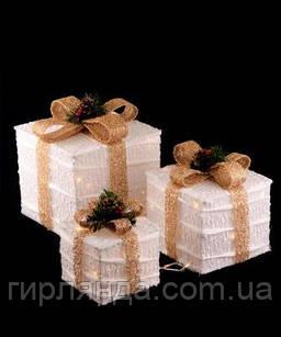 Подарунки  LED,  45 см  білий з золотом 19-023-W