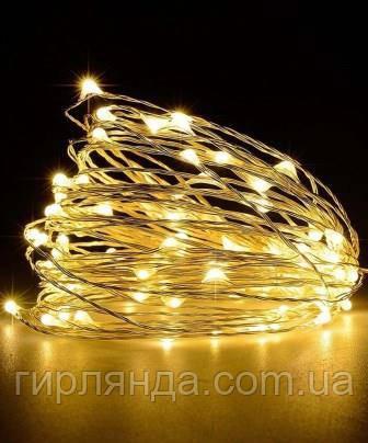 РОСА 100 LED,  220В 10м, теплий білий