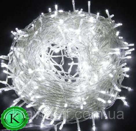 Светодиодная гирлянда 100 LED  , холодный белый , 8м