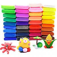 Детский набор воздушного пластилина, тесто для лепки с инструментами Metr+ 36 цветов (DP0036)