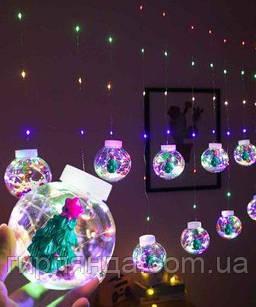 Кульки-роса ЯЛИНКА 10шт, 3м*0,8м/ перехідник,  мульті