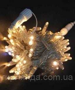 Вулична 200 LED 10м, прозор/провід  2,2мм, білий теплий (статичний режим) 40