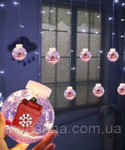 Кульки-роса ПОДАРУНОК 10шт, 3м*0,8м/ перехідник,  білий