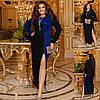 Р 50-60 Длинное вечернее платье с высоким разрезом Батал 22834