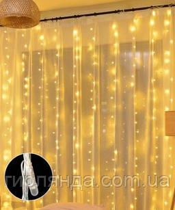Штора-ЛІНЗА 8мм 120 LED 1.8м*1.2м, білий теплий