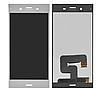 Дисплей (екран) для Sony G8441 Xperia XZ1 Compact + тачскрін, сріблястий, White Silver, оригінал