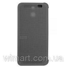 Чехол Dot View case HTC M8, серый