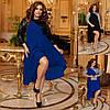 Р 50-60 Ошатне асиметрична сукня з паєтками Батал 22835