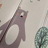 """Детский мягкий двухсторонний термоковрик  180*200*1см, """"Мишки в лесу"""", фото 6"""