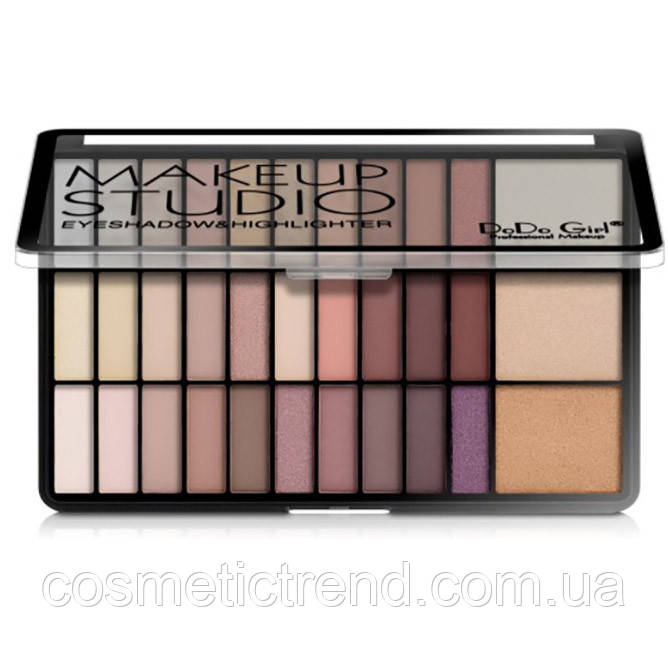 Палетка тіней і хайлайтеров DoDo Girl Make Up Studio Eyeshadow & Highlighter D4071B