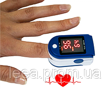 Пульсоксиметр для вимірювання пульсу і сатурації Fingertip pulse AB-88, вимірювач пульсу на палець