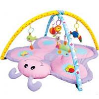 Коврик детский игровой 898-11 B бабочка, подвески,погремушки