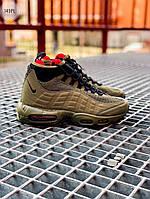 Мужские кроссовки Nike Air Max 95 Sneakerboot Green (зеленые) 149PL