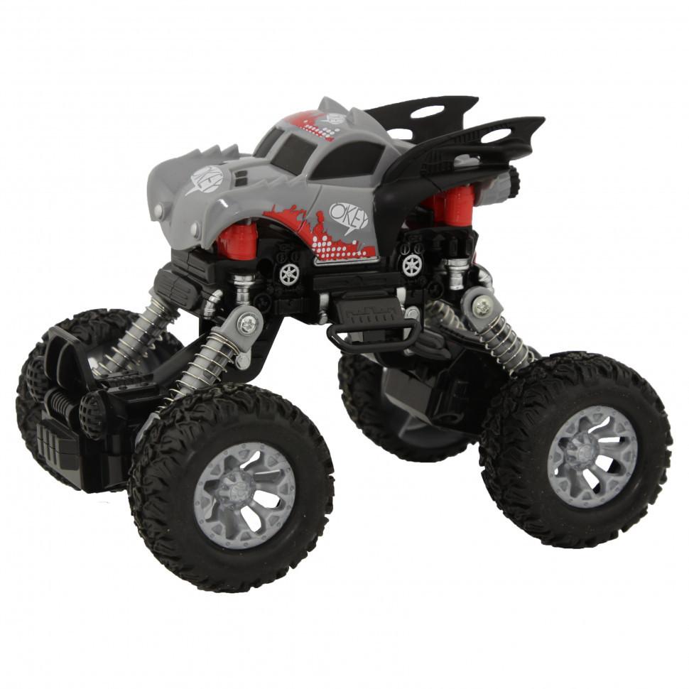 Игрушечная машинка Джип KLX500-430 Серо-черный