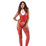 Новогодний сексуальный комбинезон  бодистокинг боди сетка сексуальное белье, фото 2