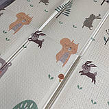 """Детский мягкий двухсторонний термоковрик  180*200*1см, """"Мишки в лесу"""", фото 5"""