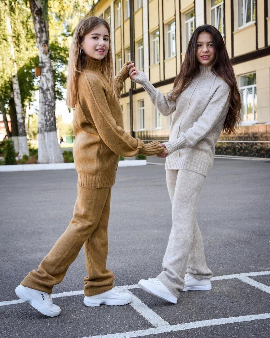 Модны тёплый костюм для девочек из кашемира с 30 по 44 размер