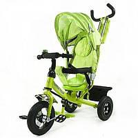 Велосипед трехколесный Зеленый с надувными колесами