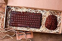 Шоколадный набор Ковальня шоколаду Клавиатура и мозг 80% 173 г (000148К)