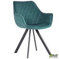 Кресло Alice black/amazon green