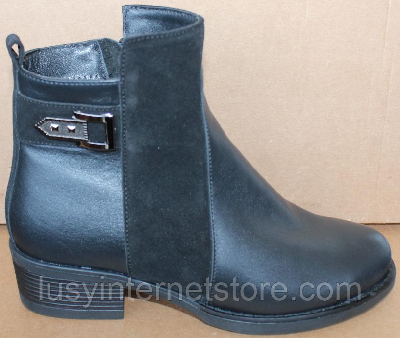 Ботинки женские демисезонные большого размера на каблуке от производителя модель БР555-1