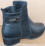 Ботинки женские демисезонные большого размера на каблуке от производителя модель БР555-1, фото 4
