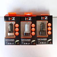 Зарядний пристрій HZ CAR CHARGER 2.1 A USB x 2 з вольтметром в прикурювач