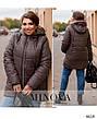 Куртка женская демисезонная с капюшоном удлиненная размеры: 52-66, фото 4