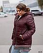 Куртка женская демисезонная с капюшоном удлиненная размеры: 52-66, фото 5