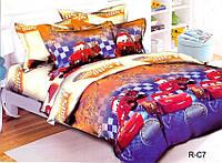 Полуторное постельное белье МакКвин Тачки 100% хлопок 150х215