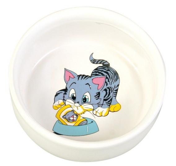 Миска керамическая для котят 0,3л, Котик, Trixie TX-4009