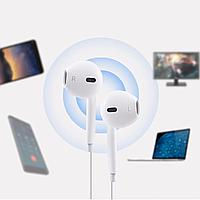 Наушники проводные Hoco M1 вкладыши Apple с микрофоном, кнопкой ответа и регулировкой громкости