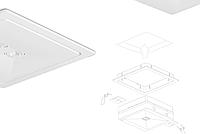 Комплект для вбудованого монтажу аварійного світильника ONTEC R, Technologie, фото 1