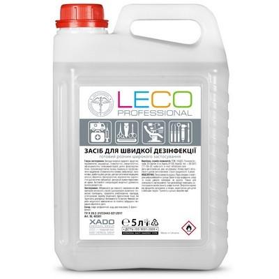 Антисептик 5 л для рук и поверхностей Leco спиртовой