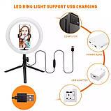 Кільцева LED лампа USB для селфи, 26см, кільцевої світло, фото 2