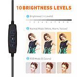 Кільцева LED лампа USB для селфи, 26см, кільцевої світло, фото 5