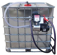 Мобильный топливный заправочный модуль для ДТ на базе Еврокуба, 1000 литров, 12 вольт