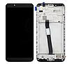 Дисплей (екран) для Xiaomi Redmi 7A + тачскрін, чорний, з передньою панеллю, оригінал